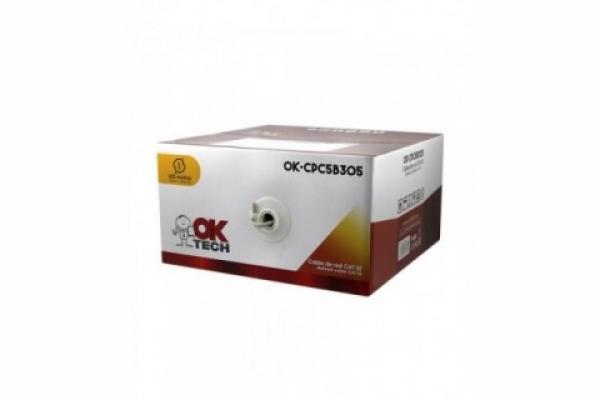 BOBINA CABLE UTP RJ45 CAT5E OKTECH UTP AWG26 305m OK-CPC5B305