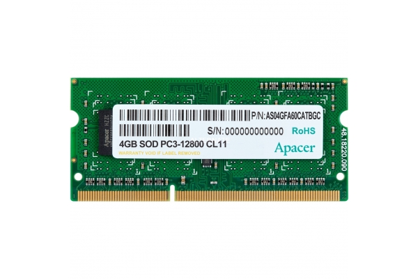 MEMORIA SODIMM 4GB APACER DDR3 1600