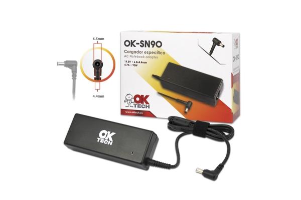 CARGADOR ESPECIFICO OKTECH SONY OK-SN90 90W 19.5V 4.7A 6.5 MM X 4.4 MM