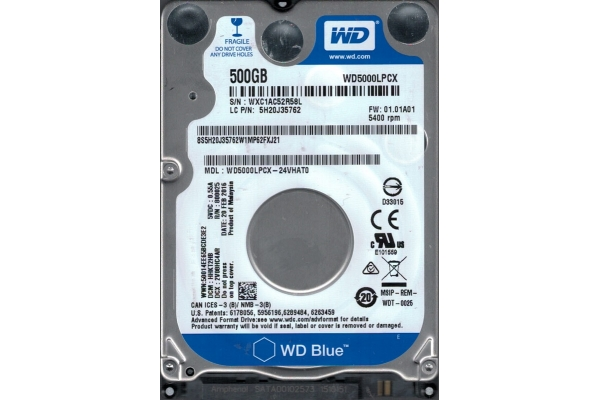 HD 2,5 500GB WESTERN DIGITAL BLUE SATA WD5000LPCX garantia fab