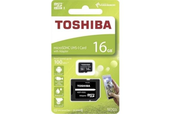 TARJETA MICRO SD TOSHIBA 16GB CLASE 10 THN-M203K0160EA