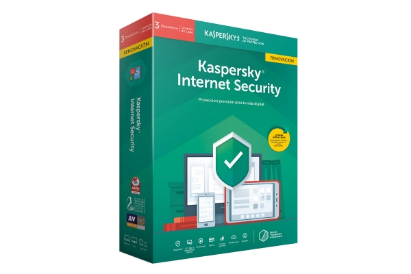 Kaspersky Internet Security 3-Dispositivos 1 año