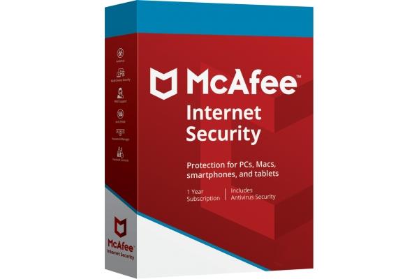 MCAFEE INTERNET SECURITY 2019 MULTIDISPOSITIVO (10 dispositivos) 1 año
