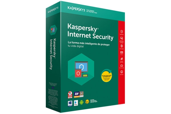 Kaspersky Internet Security 3-Dispositivos 1 año extensión
