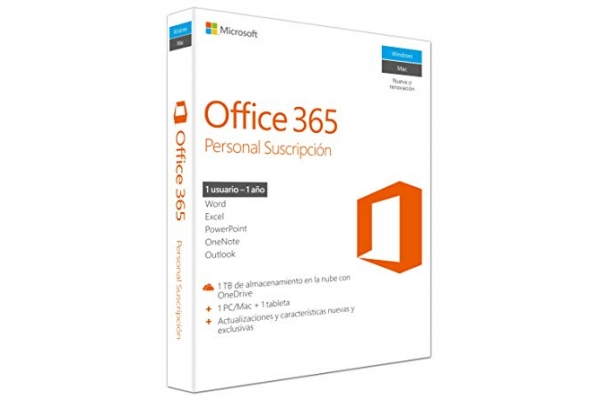 Microsoft Office 365 Personal 1-PC MAC 1 año
