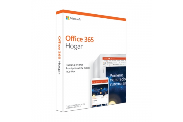 MICROSOFT OFFICE 365 HOGAR - WORD - EXCEL - POWERPOINT - ONENOTE - OUTLOOK - PUBLISHER - ACCESS - 6 USUARIOS 1 AÑO - MULTIDISPOSITIVO