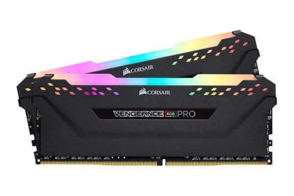 MEMORIA 16GB(2X8GB) DDR4 2666MHZ CORSAIR VENGEANCE RGB PRO CMW16GX4M2A2666C16