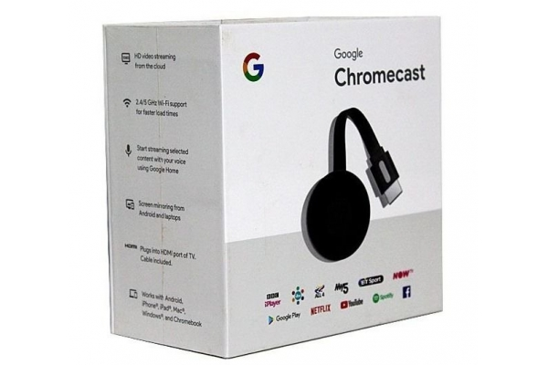 GOOGLE CHROMECAST 3  FULLHD HDMI MICROUSB WIFI  ANDROID / IOS /MAC / WINDOWS