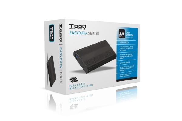 CAJA EXTERNA 2.5 TOOQ TQE-2524B SATA USB 3.0 NEGRA