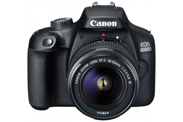 CAMARA CANON REFLEX EOS 4000D + OBJETIVO EF-S 18-55 III