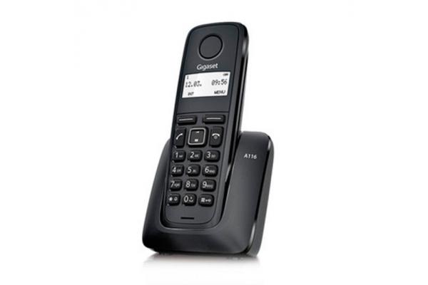 TELEFONO INALAMBRICO DECT DIGITAL GIGASET A116 NEGRO