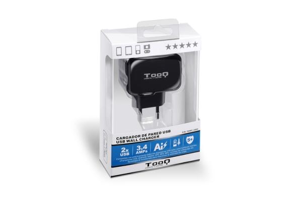 CARGADOR TOOQ DE PARED USB TQWC-1S02