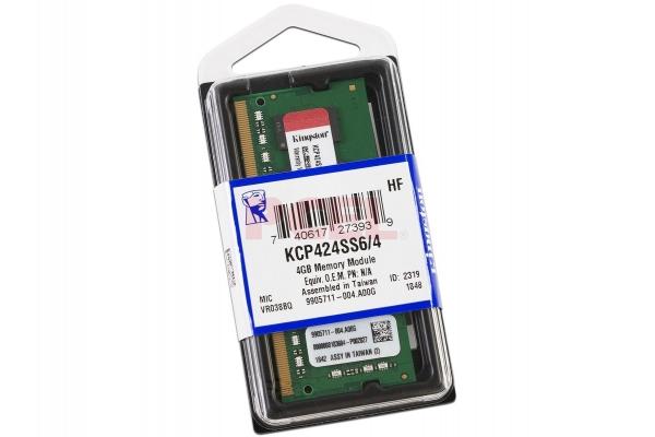 MEMORIA SODIMM 4GB KINGSTON DDR4 2400MHZ KCP424SS6 4