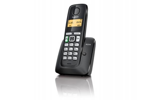 TELEFONO INALAMBRICO DECT DIGITAL GIGASET A220 NEGRO