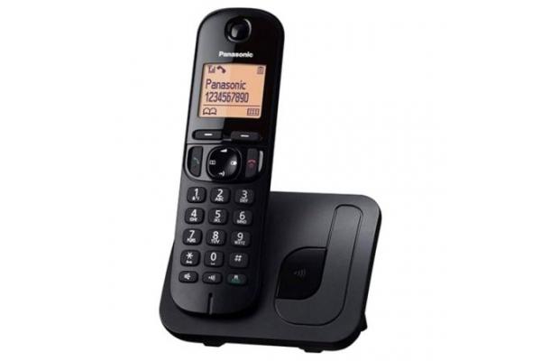 TELÉFONO INALÁMBRICO DECT PANASONIC KX-TGC210SPB NEGRO