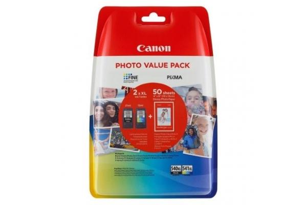 PACK TINTA ORIGINAL CANON 2 CARTUCHOS  1xPG-540XL + 1xCL541XL