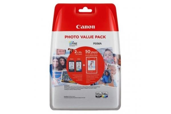 PACK TINTA ORIGINAL CANON 2 CARTUCHOS 1xPG-545XL + 1xCL546XL