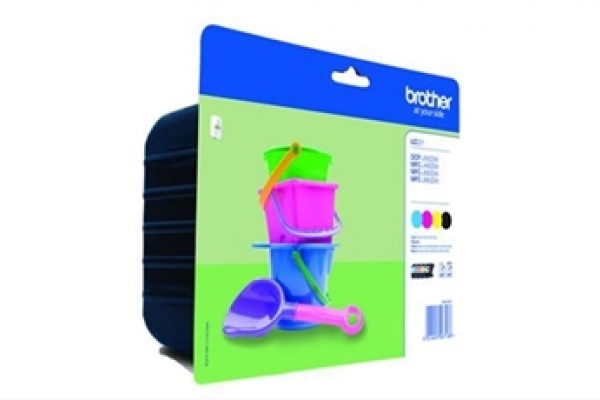 PACK TINTA ORIGINAL BROTHER LC221 NEGRO+COLOR