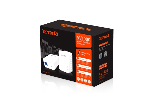 PLC TENDA KIT POWERLINE AV1000 1000MBPS, ETHERNET (PH3)