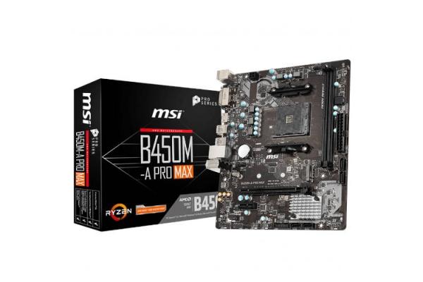 PLACA BASE MSI AMD AM4 B450M-A PRO MAX