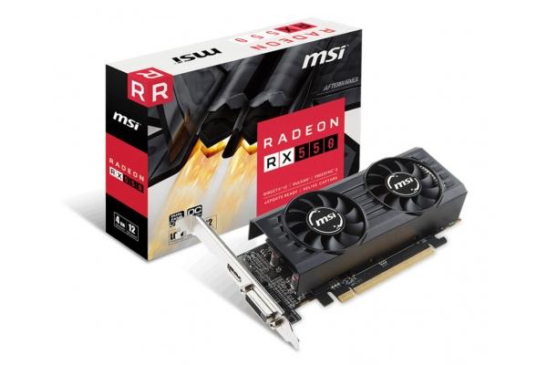 TARJETA GRAFICA MSI RX550 4GT LP OC 4GB GDDR5