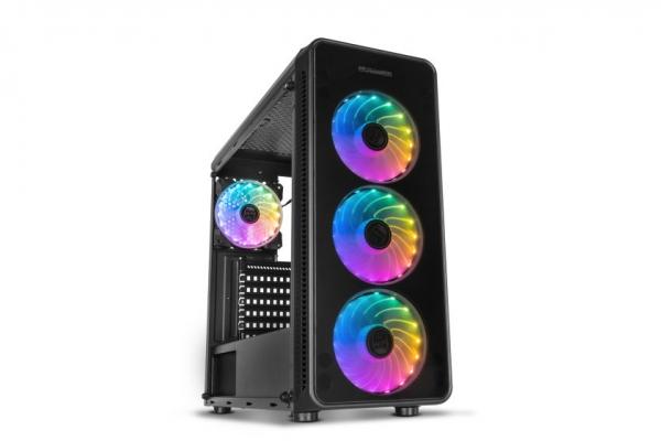 TORRE NOX HUMMER TGM RAINBOW ATX 1XUSB3.0 2XUSB2.0 NEGRO RGB
