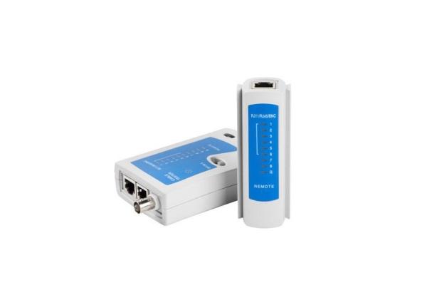TESTER LANBERG NT-0401 RJ45 RJ11 RJ12 UTP FTP SFTP 9 LED