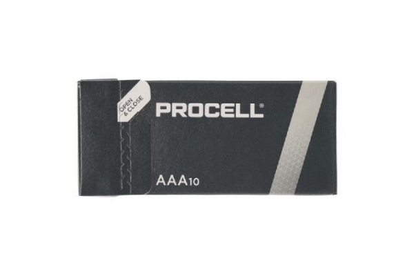 PACK 10 PILAS AAA (L03) DURACELL PROCELL ID2400IPX10 ALCALINA 1.5V