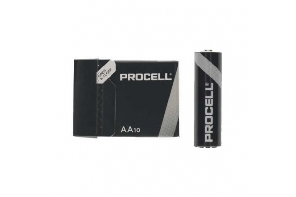 PACK 10 PILAS AA (LR6) DURACELL PROCELL ID1500IPX10 ALCALINA 1.5V