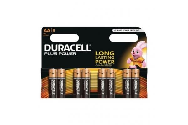 PACK DE 8 PILAS AA DURACELL PLUS POWER MN1500B8 1.5V ALCALINA