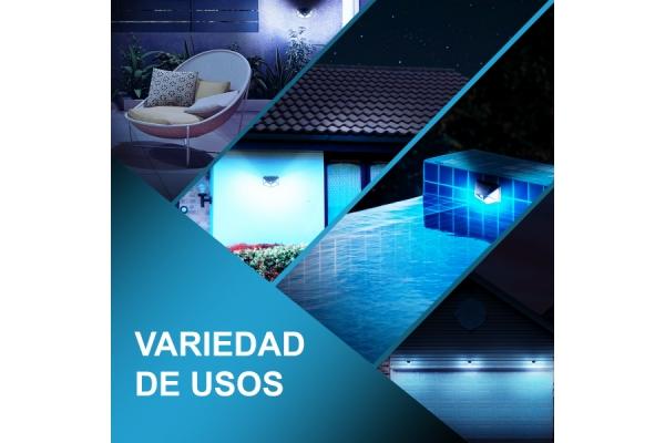 PACK DE 2 FOCOS SOLARES LED FLUX�S SENSOR DE MOVIMIENTO 3 MODOS DE ILUMINACION - 00080