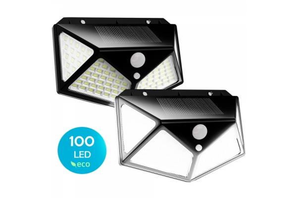 PACK DE 2 FOCOS SOLARES LED FLUX´S SENSOR DE MOVIMIENTO 3 MODOS DE ILUMINACION - 00080