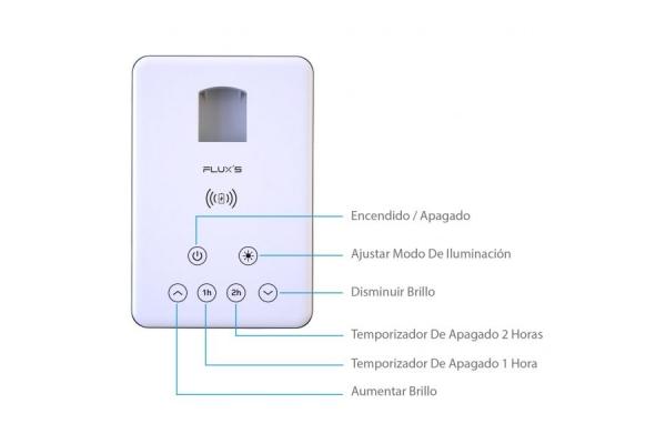 FLEXO FLUX�S CON CARGA INALAMBRICA USB 4 MODOS CON 10 NIVELES DE BRILLO TEMPORIZADOR 00112