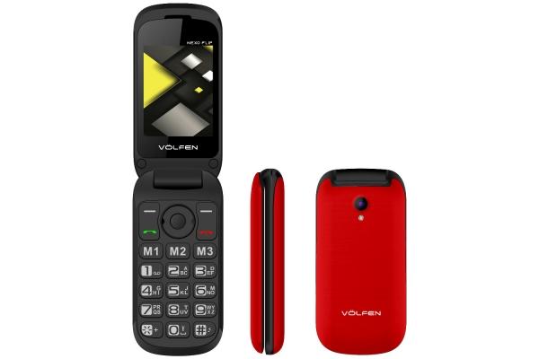 TELEFONO FACIL VOLFEN FLIP ROJO 00139