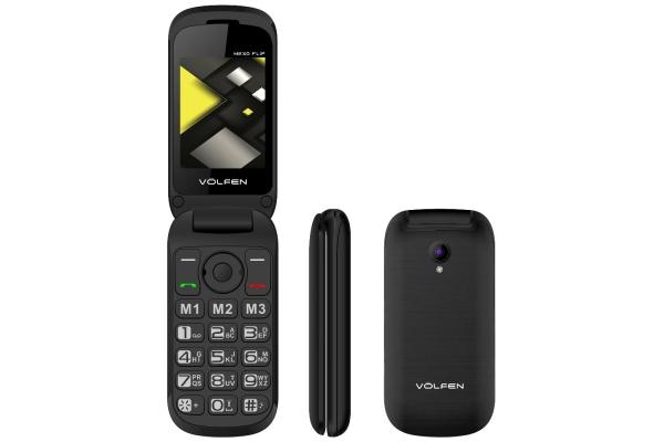TELEFONO FACIL VOLFEN FLIP NEGRO 00140