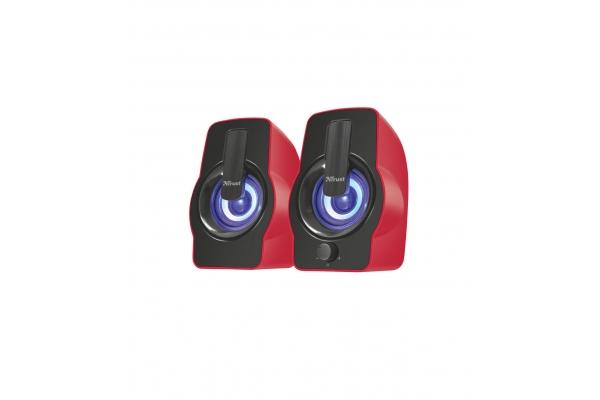 ALTAVOZ 2.0 TRUST GEMI RGB RED 12W(6RMS) RGB 22979