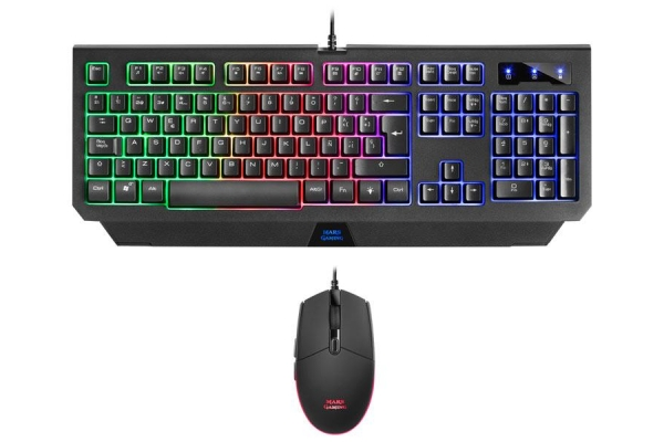 KIT TECLADO Y RATON MARS GAMING MCP100ES