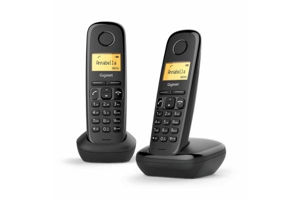 TELEFONO FIJO GIGASET A170 INALAMBRICO DUO NEGRO