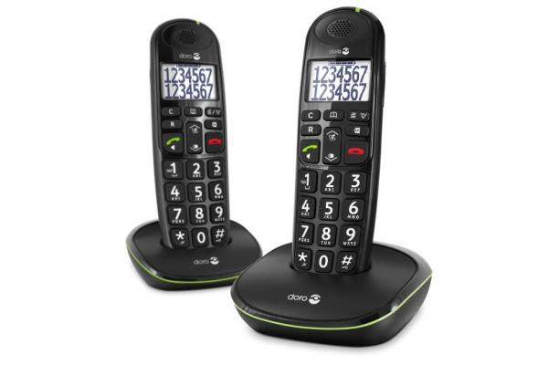 TELEFONO FIJO DORO PHONE EASY 110 2 INALÁMBRICO NEGRO