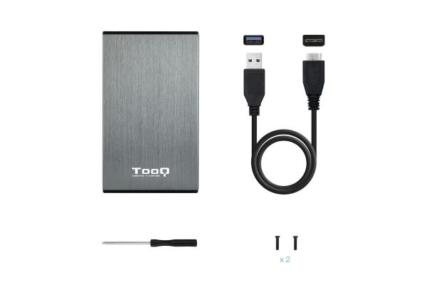 CAJA EXTERNA 2,5 TOOQ TQE-2527G USB 3.0