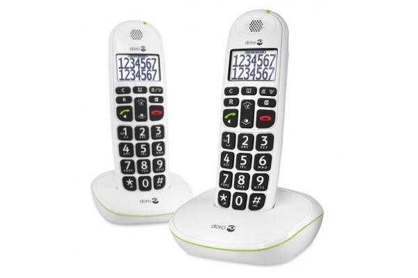 TELEFONO FIJO DORO PHONE EASY 110 2 INALÁMBRICO BLANCO
