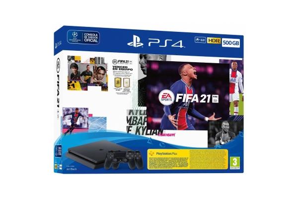 CONSOLA SONY PS4 500GB + FIFA 21 + DUAL