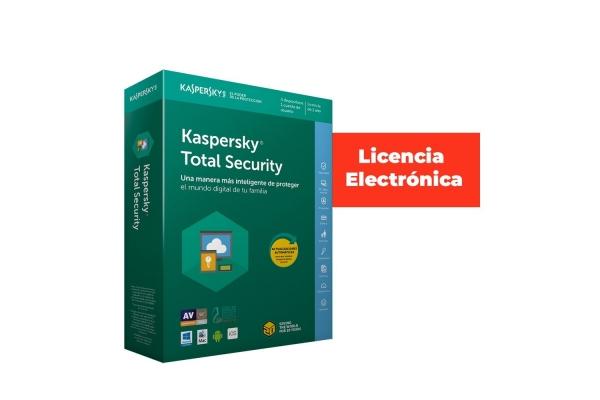 ANTIVIRUS KASPERSKY 5 USUARIOS 1 AÑO  TOTAL SECUR LICENCIA ELECTRONICA