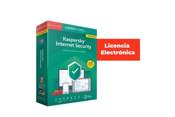 ANTIVIRUS KASPERSKY 3 USUARIOS RENOVACION INT SEC LICENCIA ELECTRONICA