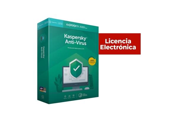 ANTIVIRUS KASPERSKY 1 USUARIO 2 AÑOS LICENCIA ELECTRONICA