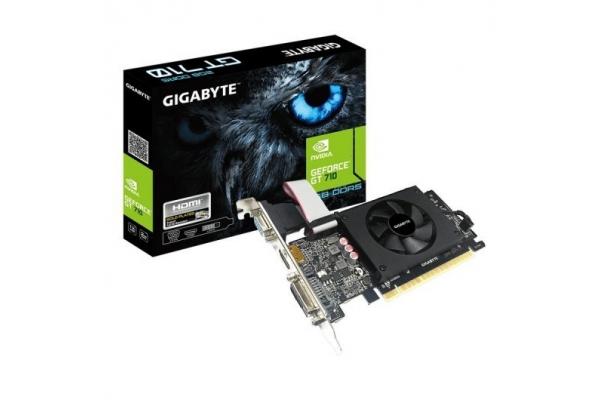 TARJETA GRAFICA GEFORCE GIGABYTE GT710 2GB DDR5 LP GV-N710D5-2GIL