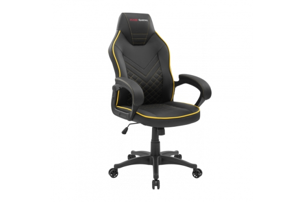 SILLA GAMER MARS GAMING MGCX ONE NEGRA AMARILLA