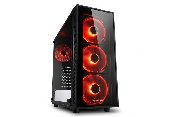 CAJA SHARKOON TG4 RED ATX 2XUSB3.0 SIN FUENTE