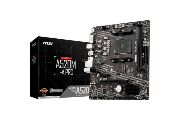 PLACA BASE MSI AMD AM4 A520M-A PRO MATX