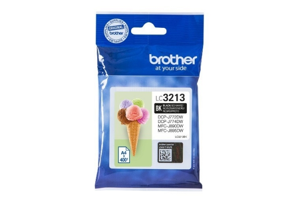 TINTA ORIGINAL BROTHER LC3213BK 400PG NEGRO